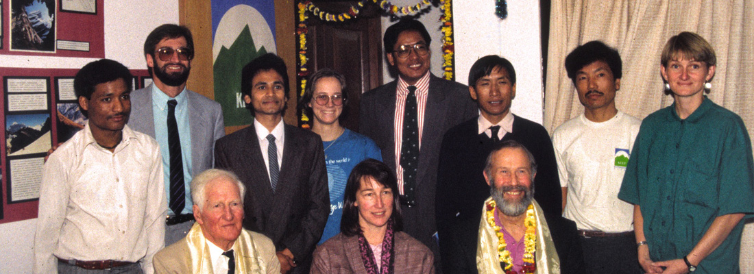 Chandra with CGCT Board members Steve Powers and Wendy Lama and other supporting founders of KEEP in 1992