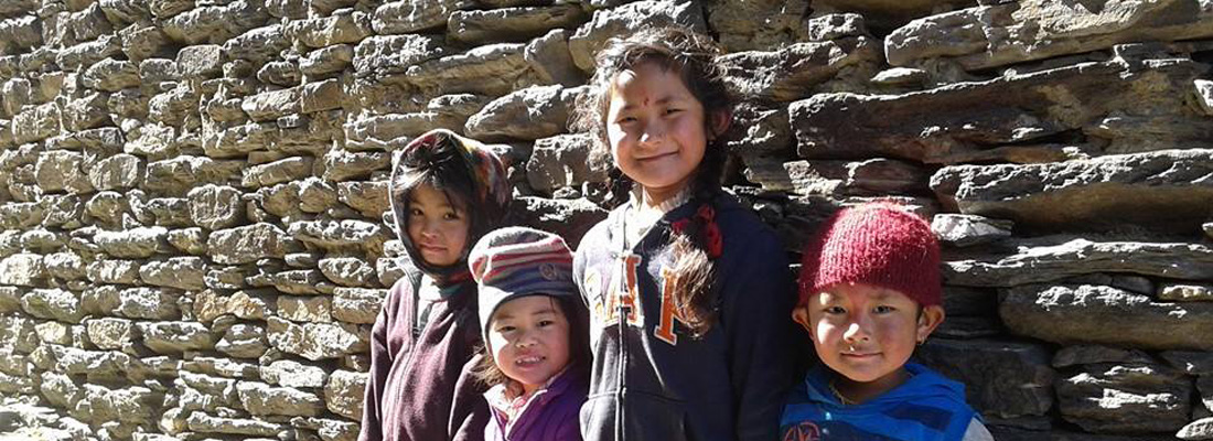 Children of Ghyachchok village, Gorkha District