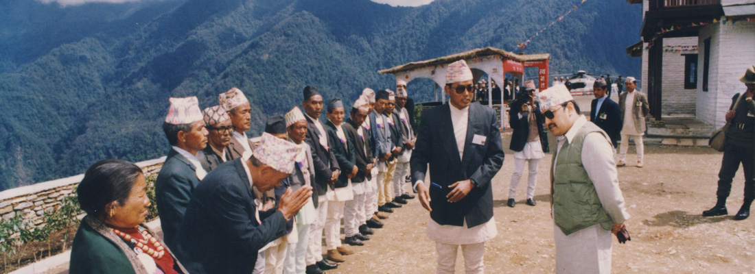 Chandra addresses Nepal King Birendra